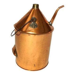 19th Century Copper Oil Jug For Sale