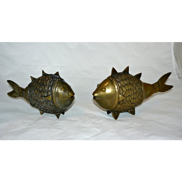 Brass Dokra Indian Fish - A Pair - Image 2 of 8