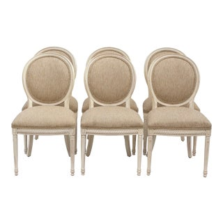 French Style Rope and Tassel Dining Chairs by Harden - Set of 6 For Sale