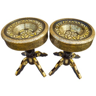Handmade Moroccan Tables, S/2 For Sale