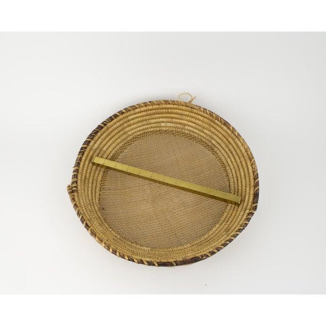 Raffia Large Bohemian Woven Basket For Sale - Image 7 of 8
