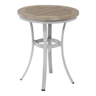 "24"" Round Café Outdoor Bistro Table, Vintage For Sale"