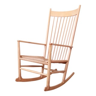 Hans J. Wegner J16 Danish Rocking Chair For Sale