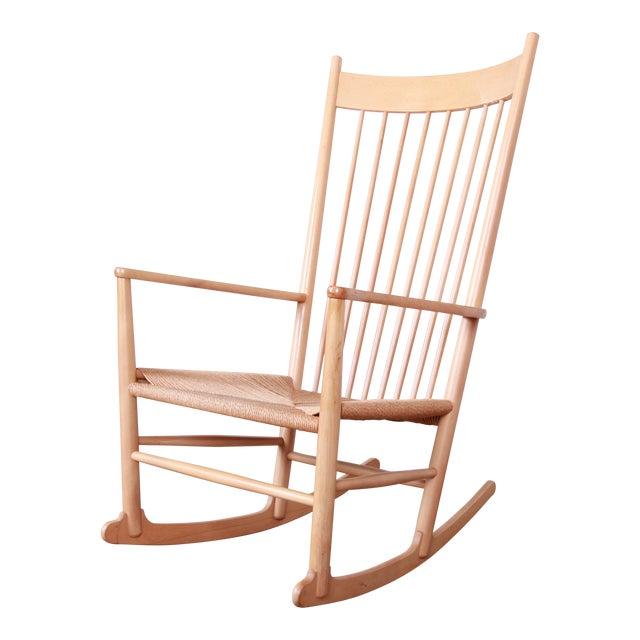 Hans J. Wegner J16 Danish Rocking Chair For Sale