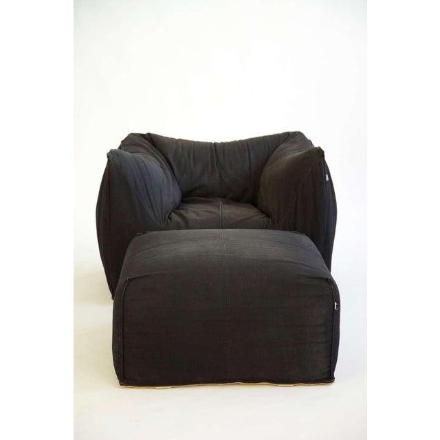 B&B Italia Mario Bellini Lounge Chair and Ottoman For Sale - Image 4 of 5