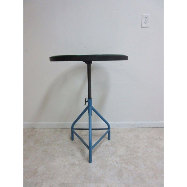 Antique Industrial Gear Metal Tripod Lamp End Table Stand For Sale In Philadelphia - Image 6 of 11