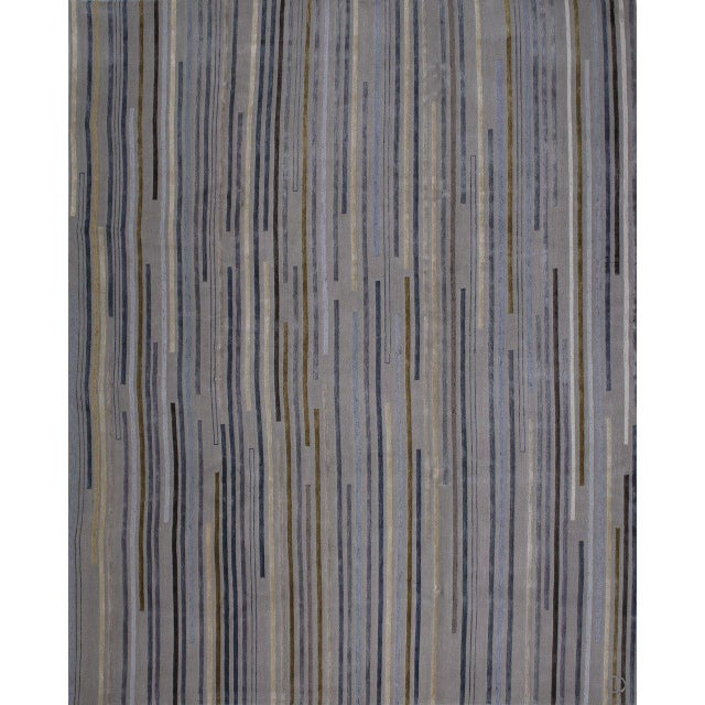 """Not Yet Made - Made To Order """"Tiny Stripes"""" Rug by Emma Gardner For Sale - Image 5 of 5"""