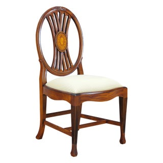 Niagara Furniture Round Back Inlaid Side Chair For Sale