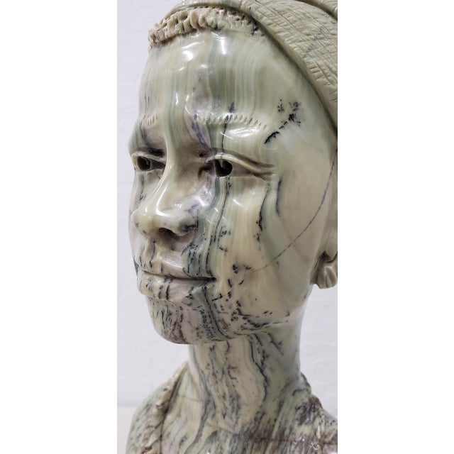 Marble Sculpture of a Young African Woman by Kakweza For Sale - Image 4 of 6