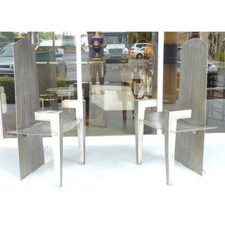 Stainless Steel Chairs, David Smith Style Preview