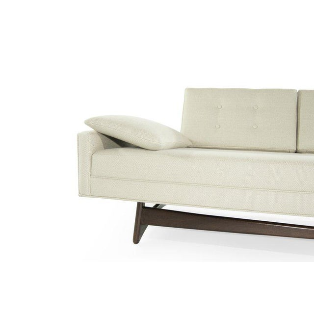 Linen Adrian Pearsall for Craft Associates Model 2408 Sofa For Sale - Image 7 of 12