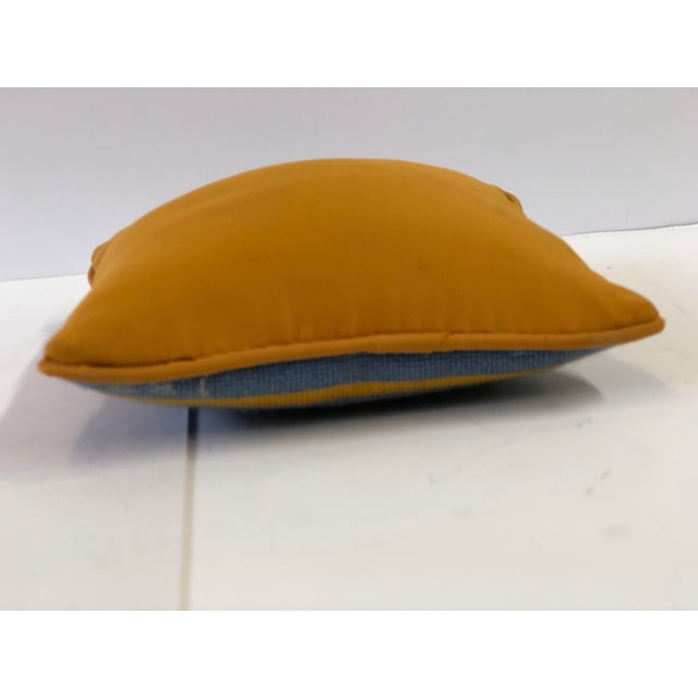 Vintage Fleur-De-Lis Petite Needlepoint Pillow For Sale - Image 9 of 10