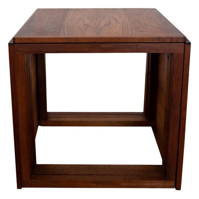 Rosewood Kai Kristiansen Nesting Cube Tables For Sale