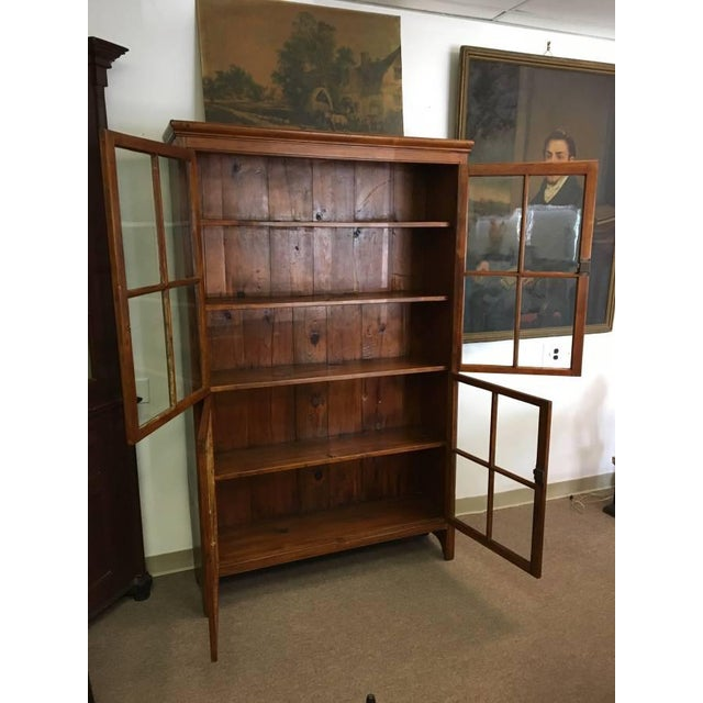 Awesome 19Th Century Antique Pine Wood Four Door Bookcase Download Free Architecture Designs Remcamadebymaigaardcom