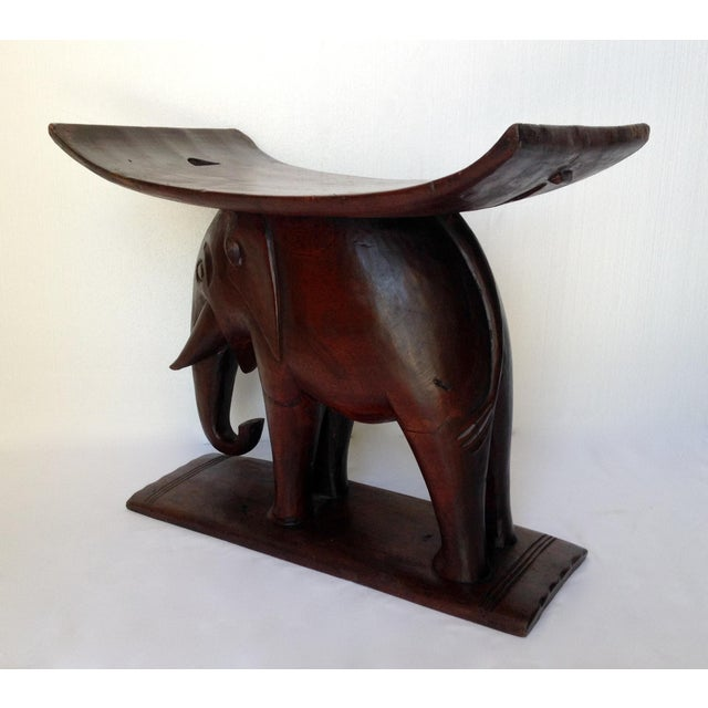 1920s Vintage African Ghana Elephant Ashanti Bench For Sale In West Palm - Image 6 of 11