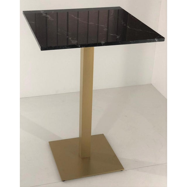 New Bistro High Table in Gilded Wrought Iron With Black Marble Top For Sale In Miami - Image 6 of 7