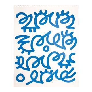 Alic Daniel Blue Scribble Ink on Paper