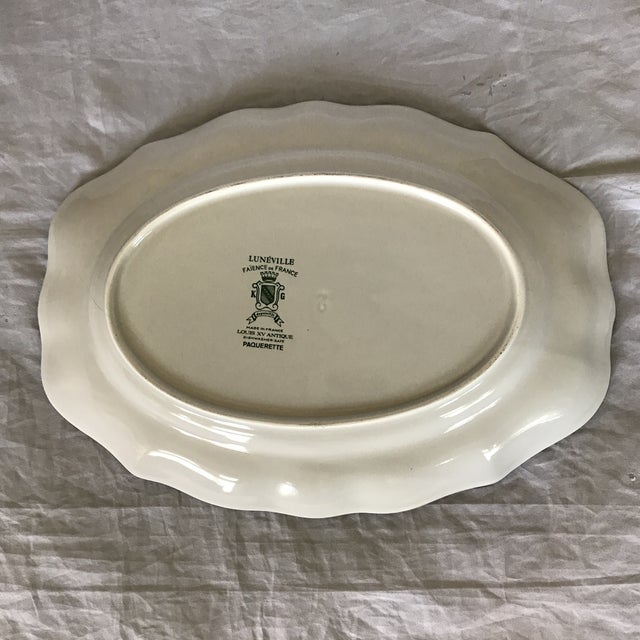 """Luneville French Faience Luneville """"Paquerette"""" Serving Dish For Sale - Image 4 of 7"""