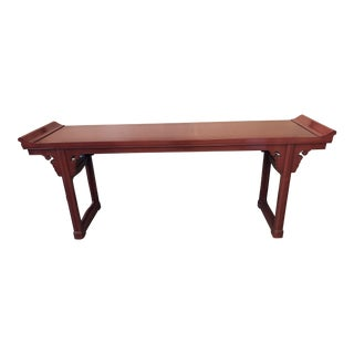 1990s Asian Lacquered Baker Altar Table For Sale