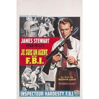 The FBI Story 1959 Belgian Film Poster For Sale