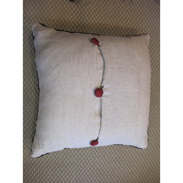 Traditional Vintage Suzani Hand Embroidered Pillow For Sale - Image 3 of 4