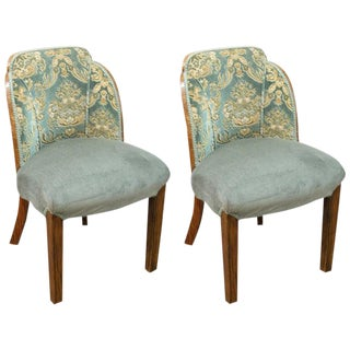 1930s Vintage French Art Deco Chairs- A Pair For Sale