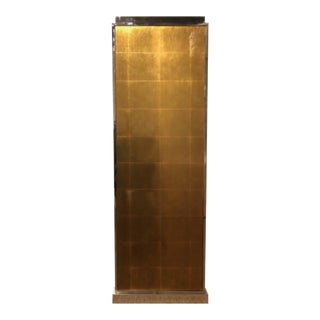 Henredon J. Bilhuber Gold Glass Pedestal For Sale