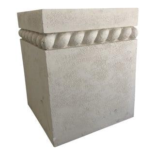Vintage Postmodern Decorative Plaster Pedestal For Sale