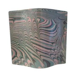 Aqua Free Form Ceramic Vase For Sale