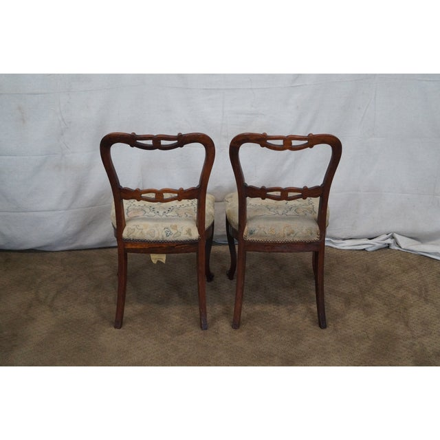 Victorian Rosewood Side Chairs- Set of 4 - Image 4 of 10
