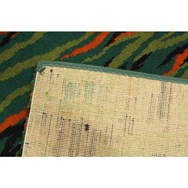 Green Mid-Century Modern Rug - 2′3″ × 4′6″ - Image 3 of 3