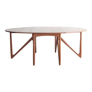 1960s Mid-Century Modern Peter Hvidt Teak Folding Dining Table For Sale