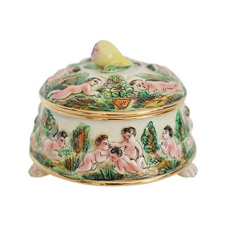 Hand-Painted Capodimonte Box For Sale