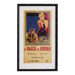 1960 Italian Movie Poster, La Ragazza DI Amburgo