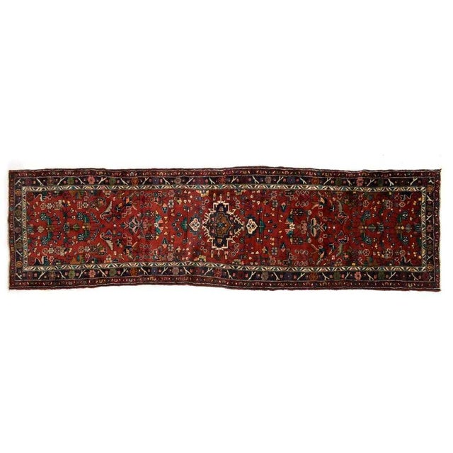 """Hand-Tied Persian Saruq Wool Runner Rug - 3′6″ × 10' 7"""" For Sale - Image 4 of 12"""