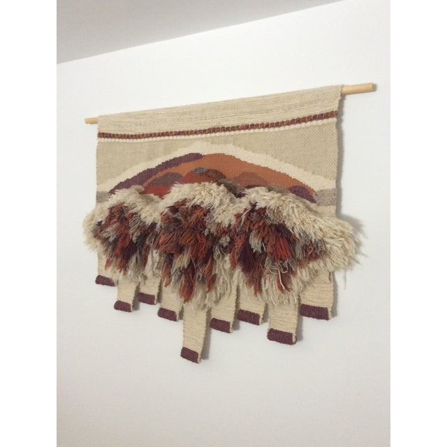 Original Textile/Fiber Wall Art/ Macrame by Sherri Bingaman from the 1980's. This extraordinary piece was purchased at an...