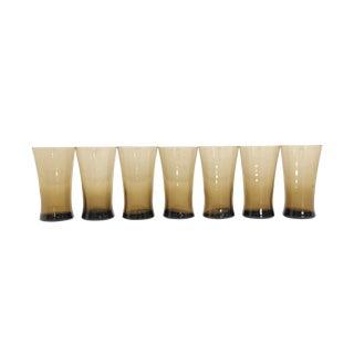 Mid Century Brown Glassware Set (7)