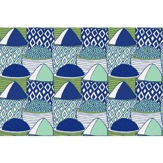 Spice Market Garden Party Linen Cotton Fabric, 6 Yards For Sale