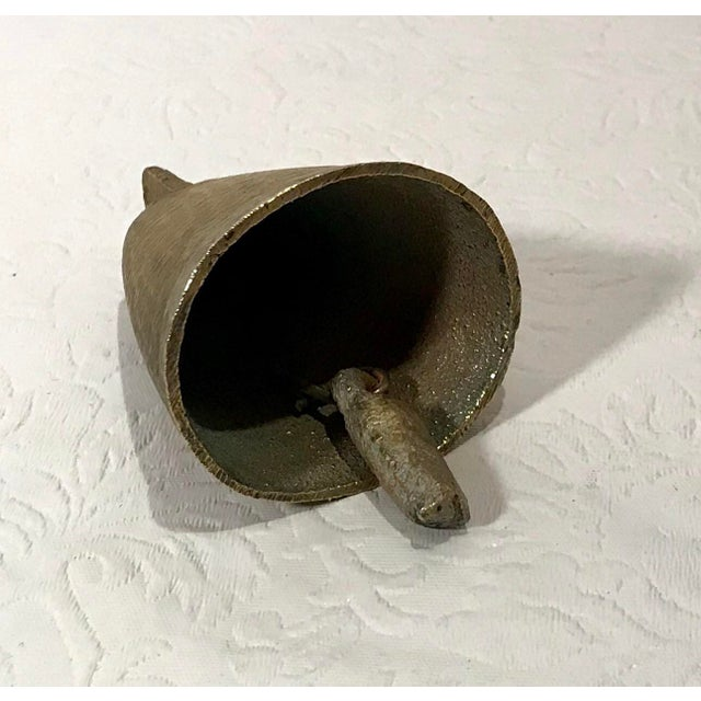 Mid 20th Century Vintage Mid Century Brass Bell For Sale - Image 5 of 9