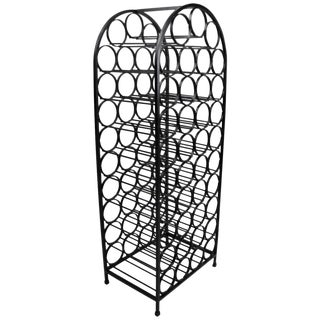 Vintage Arch Top Wrought Iron Wine Rack by Umanoff For Sale