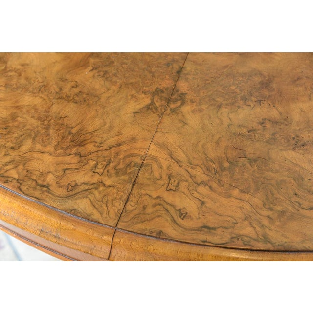 Mid 19th Century English Walnut & Burl Round Center Table For Sale - Image 5 of 8