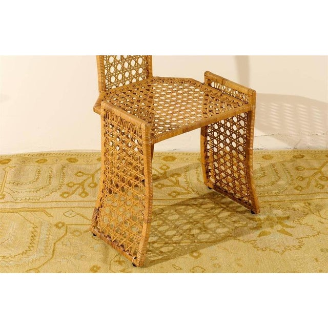 Fabulous Set of Twelve Rattan Dining Chairs by Danny Ho Fong For Sale - Image 9 of 11