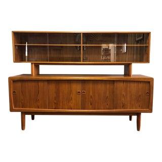 20th Century Danish Modern Teak 2-Tier Sideboard For Sale