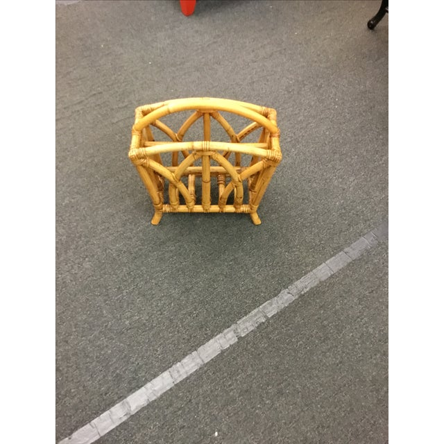 Paul Frankl Rattan Magazine Stand - Image 2 of 3