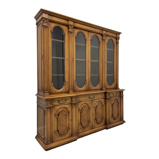 Karges Mediterranean Style Breakfront China Cabinet For Sale