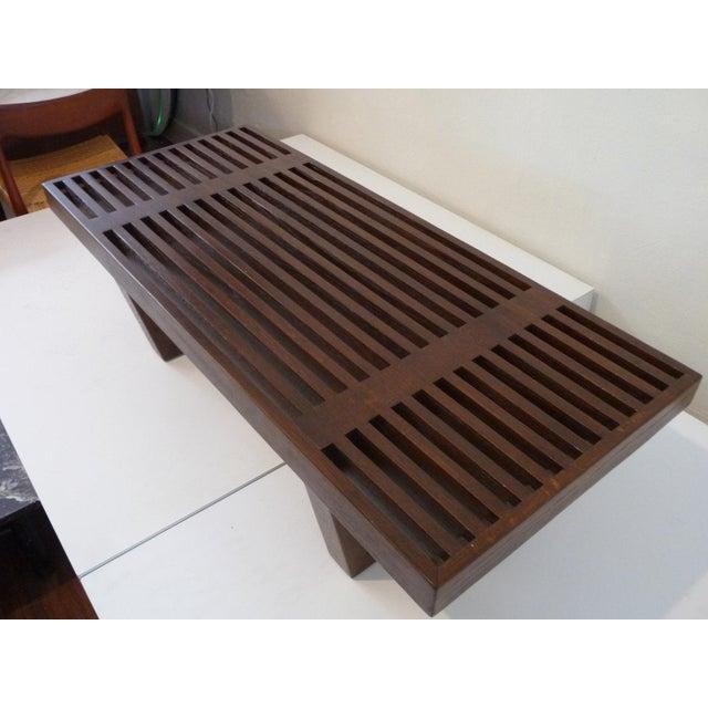 Mid Century Platform Bench For Sale - Image 5 of 5