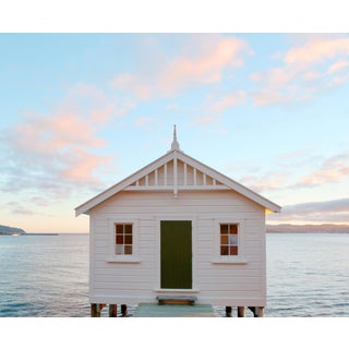 """Boathouse"" Contemporary Coastal Photograph"