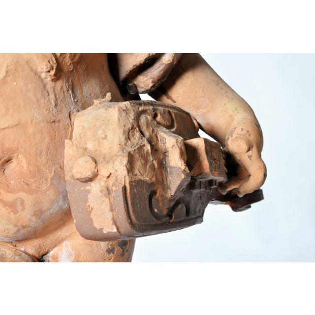 French Terracotta Figure of a Boy For Sale - Image 9 of 11