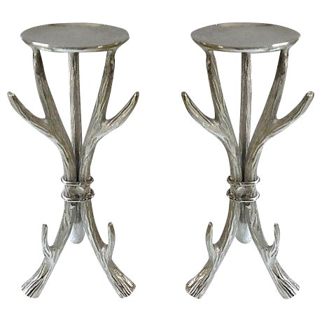Antler Form Candle Holders - a Pair - Image 1 of 6