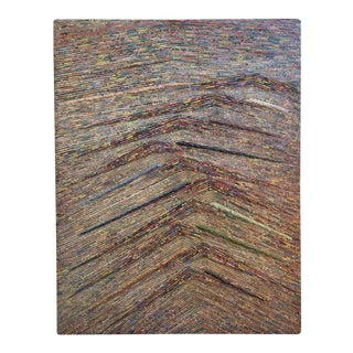 Rope and Acrylic on Wood Abstract Painting by Patrick Hogan For Sale